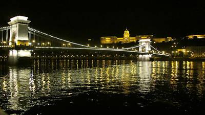 Digital Art - The Chain Bridge-budapest by Max DeBeeson