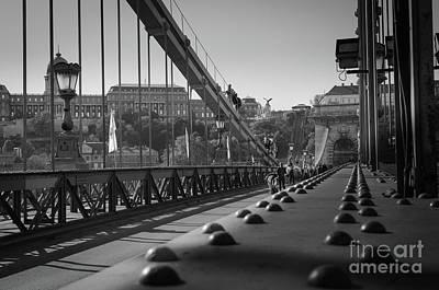 The Chain Bridge, Danube Budapest Art Print