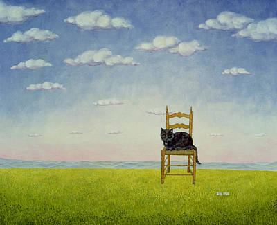 Pussy Painting - The Chair Cat  by Ditz