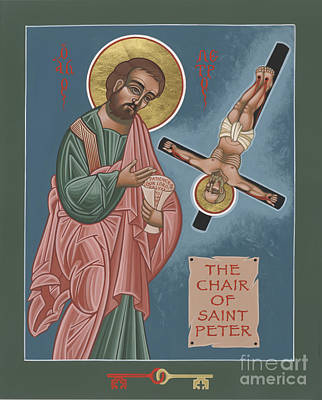 Painting - The Chair Of St Peter 244 by William Hart McNichols