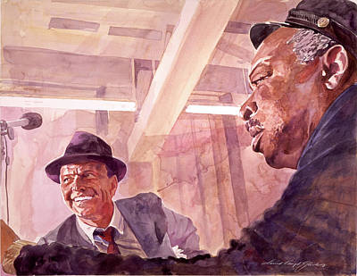 Sinatra Painting - The Chairman Meets The Count by David Lloyd Glover