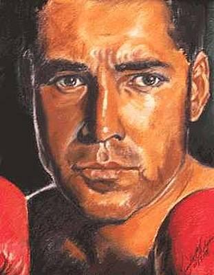 Boys Boxing Painting - The Champ - Oscar De La Hoya by Kenneth Kelsoe
