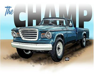 Digital Art - The Champ by Richard Mordecki