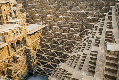 Photograph - The Chand Baori Stepwell by Nila Newsom