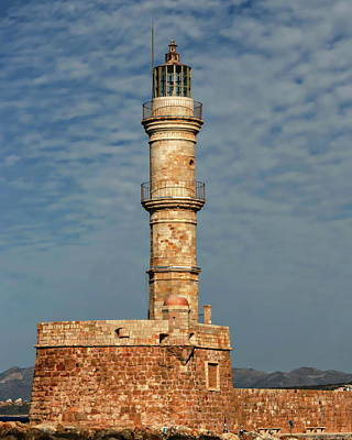 Photograph - The Chania Lighthouse by Anthony Dezenzio