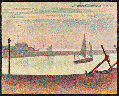 The Channel At Gravelines, Evening Art Print by Georges Seurat