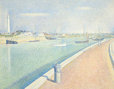 Painting - The Channel Of Gravelines Petit Fort Philippe by Georges-Pierre Seurat
