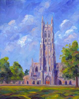 University Of Illinois Painting - The Chapel At Duke University by Jeff Pittman
