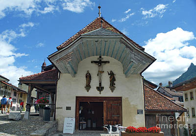 Photograph - the chapel in Gruyeres by Michelle Meenawong