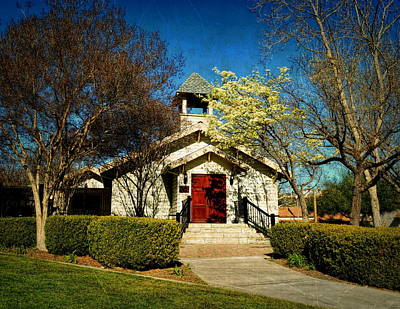 Old Town Temecula Photograph - The Chapel Of Memories - Temecula by Glenn McCarthy