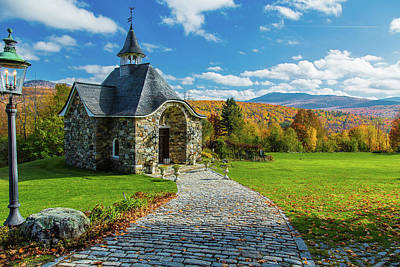 Photograph - The Chapel by Pierre Cornay