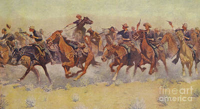 Painting - The Charge by Frederic Remington