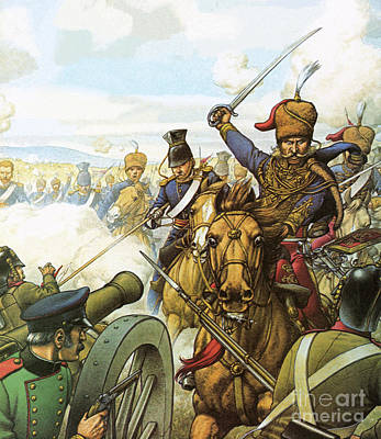 The Charge Of The Light Brigade Art Print by Pat Nicolle