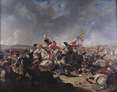 The Battle Of Waterloo Painting - The Charge Of The Second Brigade by Denis Dighton