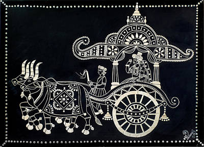 Hand Crafted Mixed Media - The Chariot Wood Work by Anannya Chowdhury