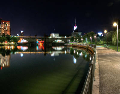 Photograph - The Charles At Night 035 by Jeff Stallard