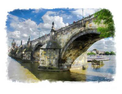 Photograph - The Charles Bridge - Prague by Tom Cameron