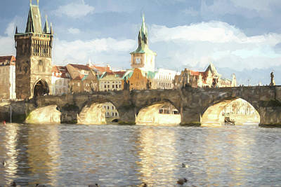 Photograph - The Charles Bridge by Wade Brooks