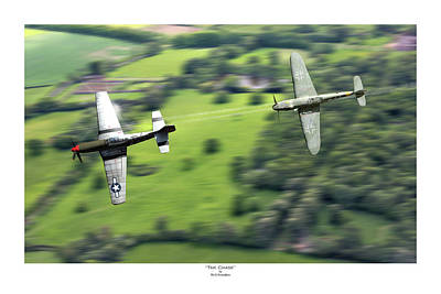 P51 Wall Art - Digital Art - The Chase - Titled by Mark Donoghue