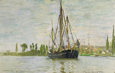 Ship Anchor Painting - The Chasse Maree At Anchor by Claude Monet