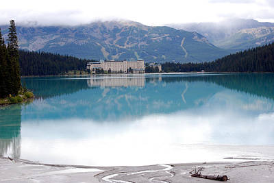 Photograph - The Chateau At Lake Louise by Harvey Barrison