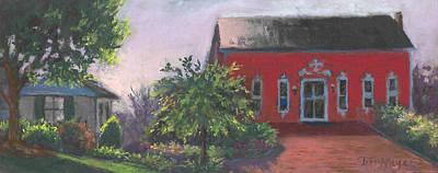 The Chateau Barn Art Print by Terri  Meyer