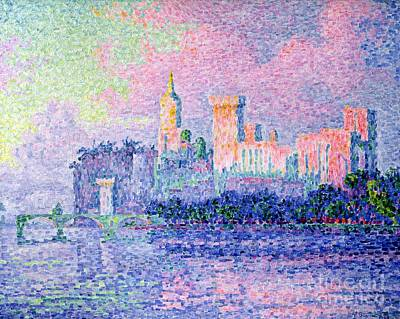 The Chateau Des Papes Art Print by Paul Signac