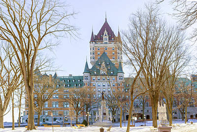 Photograph - The Chateau Frontenac In Quebec City, Canada. by Marek Poplawski
