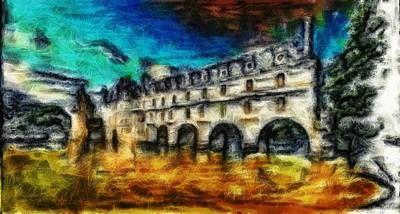 Digital Art - The Chateau by Mario Carini