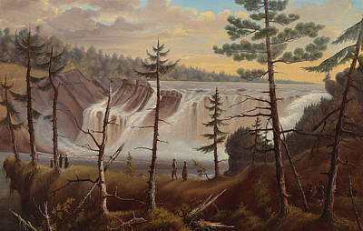 Rivers In The Fall Painting - The Chaudiere Falls by Joseph Legare
