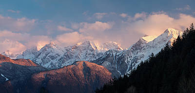 Harrison Hot Springs Wall Art - Photograph - The Cheam Range Peaks Of British Columbia by Michael Russell