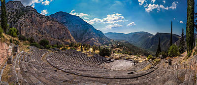 Print featuring the photograph The Cheap Seats At Delphi by Micah Goff