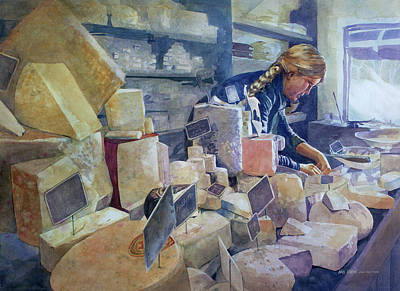 Painting - The Cheese Shoppe by Kris Parins