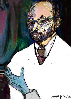 Self-portrait Mixed Media - The Chemist by Noredin Morgan