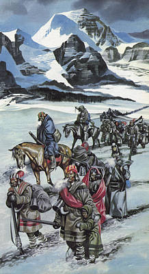 Harsh Conditions Painting - The Cherokee by Ron Embleton