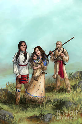 Digital Art - The Cherokee Years by Brandy Woods