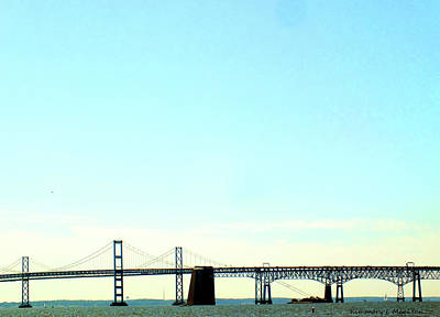 Photograph - The Chesapeake Bay Bridge by Kimmary I MacLean