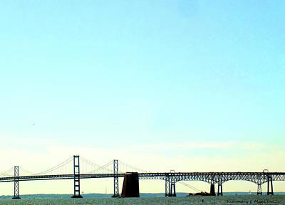 Photograph - The Chesapeake Bay Bridge by Kimmary I MacLean