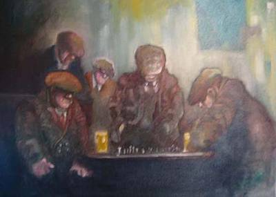 Painting - The Chess Match by Kevin McKrell