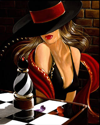 Painting - The Chess Pice by Victor Ostrovsky