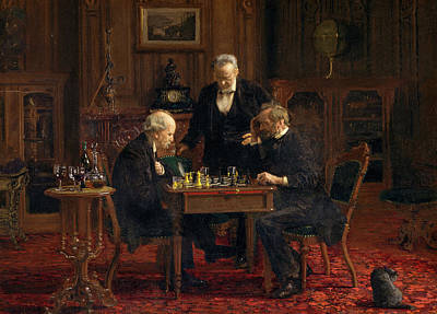 Sitting Painting - The Chess Players by Thomas Eakins