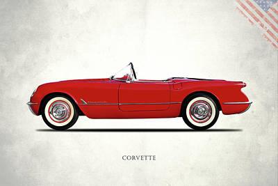 C1 Photograph - The Chevrolet Corvette 1954 by Mark Rogan