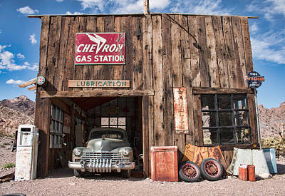 Photograph - The Chevron Station  by Kristia Adams
