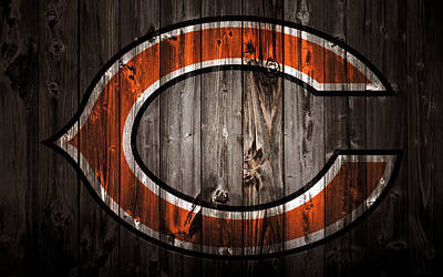 Soldier Field Mixed Media - The Chicago Bears 2c by Brian Reaves
