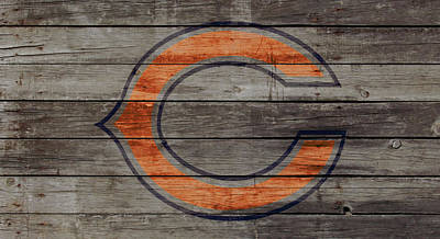 Soldier Field Mixed Media - The Chicago Bears 3w by Brian Reaves