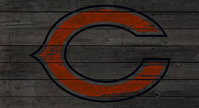 Soldier Field Mixed Media - The Chicago Bears W1 by Brian Reaves