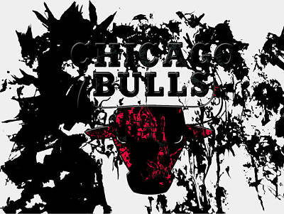 The Chicago Bulls  Art Print