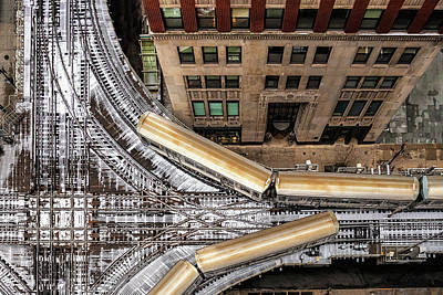 Photograph - The Chicago L by Andrew Soundarajan