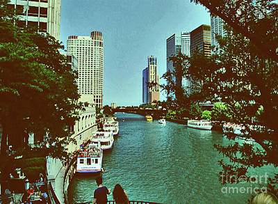 Photograph - The Chicago River by Gary Wonning