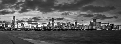 Photograph - The Chicago Skyline - Black And White by Ron Pate